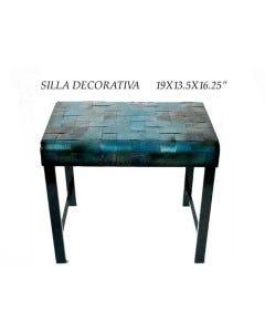 SILLA DECORATIVA19X13.5X16.25PLG